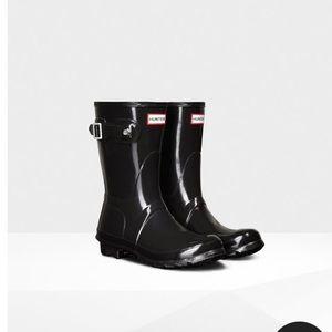 c8436165e6c56 Women s Short Black Hunter Boots on Poshmark